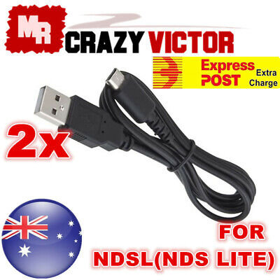 AU4.65 • Buy 2x 1M USB Power Charging Charger Sync Data Cable Cord Nintendo DS Lite NDS NDSL