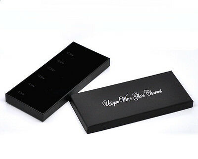 £2.95 • Buy UNIQUE WINE GLASS CHARM DISPLAY/GIFT BOX ~ Holds 6 Charms/Pendants~not Included