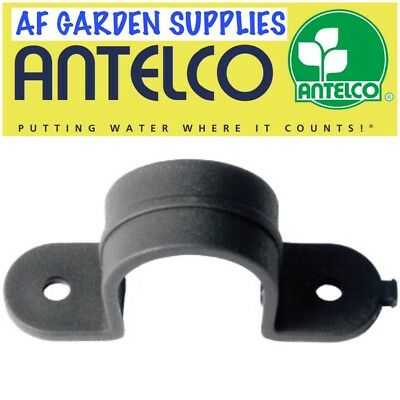 Pipe Clamp Clip / Saddle For 13mm LDPE Pipe/Tube, Garden Irrigation/Hydroponics  • 4£