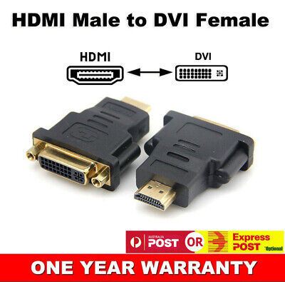 AU5.88 • Buy DVI D Female Dual Link To HDMI Male Connector Converter PC HDTV Adapter Socket