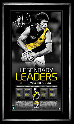 AU299 • Buy Trent Cotchin Richmond Captain Signed Framed Limited Edition Lithograph Print