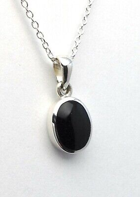 Genuine Whitby Jet And Sterling Silver Pendant 00023p Hand Made In Whitby • 34£