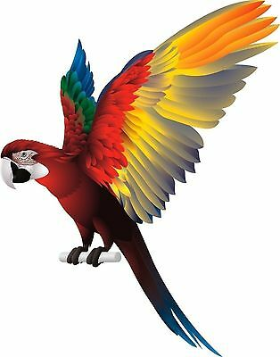 Parrot Bird Spread Wings Sticker Decal Graphic Vinyl Label • 2.49£