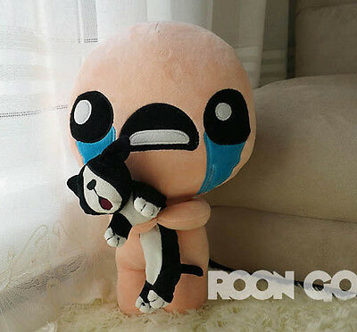 AU27.35 • Buy 35CM PP Cotton The Binding Of Isaac Soft Plush Toy Doll ISSAC With Cat Pillow