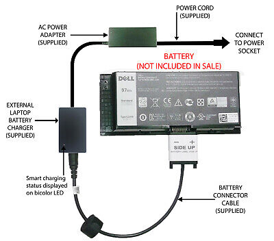 £52.98 • Buy External Laptop Battery Charger For Dell Precision M4800 M6800 FJJ4W T4DTX 4HJXX