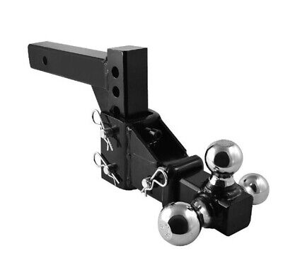 $93.99 • Buy Hd 3 Ball Adjustable Drop-turn Trailer Tow 2  Hitch Mount Towing Truck Solid