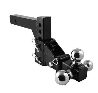 Hd 3 Ball Adjustable Drop-turn Trailer Tow 2  Hitch Mount Towing Truck Solid • 93.99$