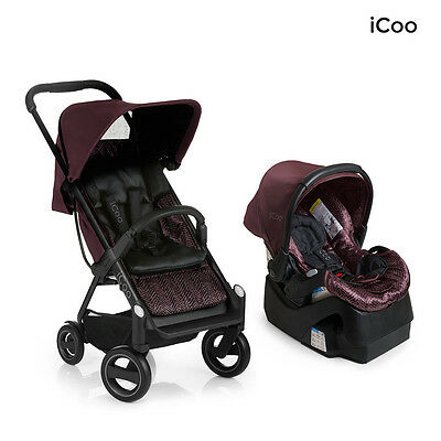 I'coo Acrobat And IGuard35 Travel System In Burgundy Brand New!  Icoo • 185.96£
