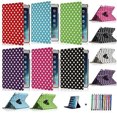£2.50 • Buy Leather 360 Polka Dot Degree Rotating Case Cover Stand For  APPLE IPad MINI 2