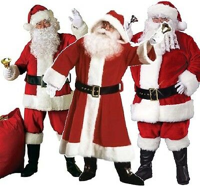 £99.99 • Buy Mens Professional Quality Santa Claus Father Christmas Suit Costume Outfit M-XXL