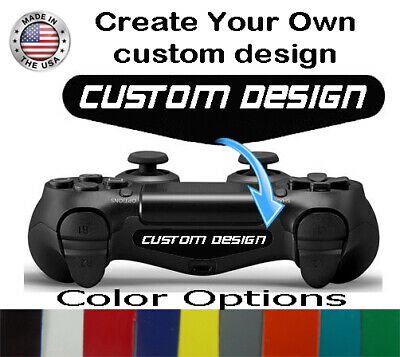 AU5.73 • Buy Personalized PS4 Controller Custom Logo Design Light Bar Sticker Decal