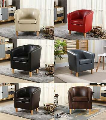 WestWood Faux Leather PU Tub Chair Armchair Dining Room Modern Office Furniture • 62.90£