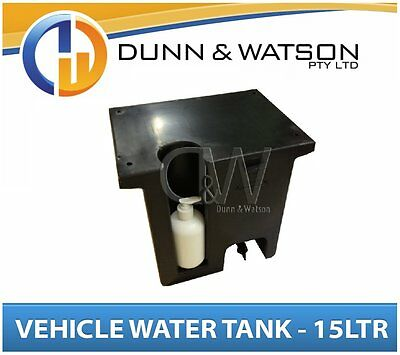 AU169.50 • Buy Vehicle Water Tank With Soap Dispenser (15L) Black PVC Ute Under Tray - LH & RH