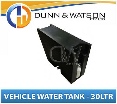 AU197 • Buy Vehicle Water Tank With Soap Dispenser (30L) Black PVC Ute Under Tray - LH & RH