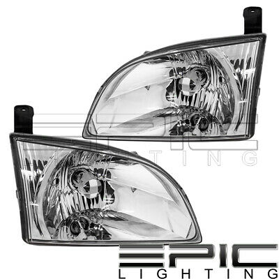 $64.91 • Buy Halogen Headlights For 2001-2003 TOYOTA SIENNA - Left Right Side Pair