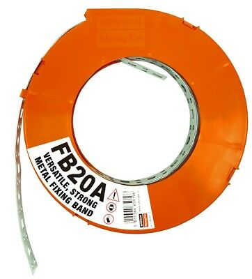 £12.81 • Buy Simpson Strong-tie Metal FIXING BAND | Strapping FB20A | 20mm X 10m Roll