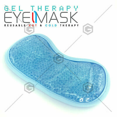 AU9.99 • Buy Eye Mask Cooling Reusable Eye Mask With Gel Beads For Hot Cold Therapy & Pain