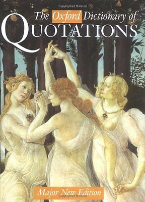 £2.95 • Buy The Oxford Dictionary Of Quotations By Elizabeth Knowles. 9780198601739