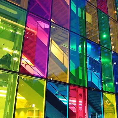 £1.75 • Buy Transparent Coloured Window Film Stained Glass Self Adhesive Vinyl Fablon