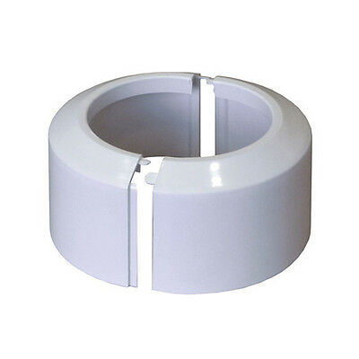 Split Two-Piece White WC Toilet Rosette Soil Pipe Connection Collar Cover 110mm • 11.99£