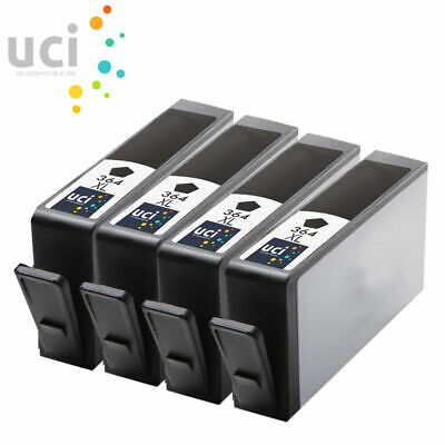 4 Black INK UCI Brand Fits For HP 364XL Photosmart 5510 5515 5520 6510 C6380 • 7.79£