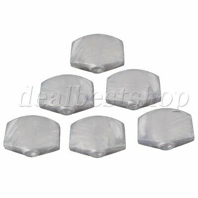 $ CDN10.01 • Buy 6pcs White Pearl Universal Guitar Tuner Machine Head Square Tuning Pegs Buttons