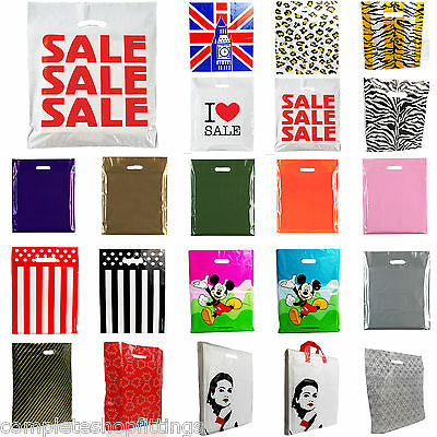 PLASTIC CARRIER BAG -Sale Bags/Designer Bags Printed Strong Gift Shopping Bag  • 14.99£