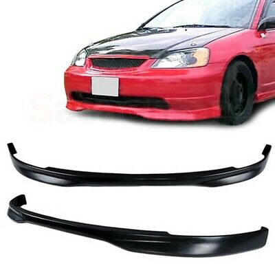 $74.99 • Buy Made For 2001-2003 Honda Civic Type-R Style JDM Front Bumper PU Chin Lip Spoiler