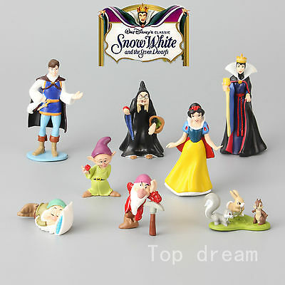 8X Disney Princess Snow White And The Seven Dwarfs Evil Queen Action Figures SET • 9.98£
