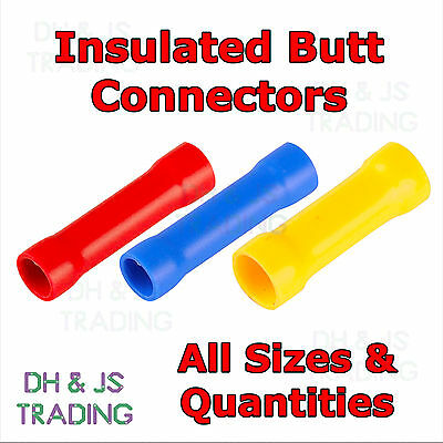 £1.69 • Buy Insulated Straight Butt Connectors - Electrical Crimp Terminals Wire Cable
