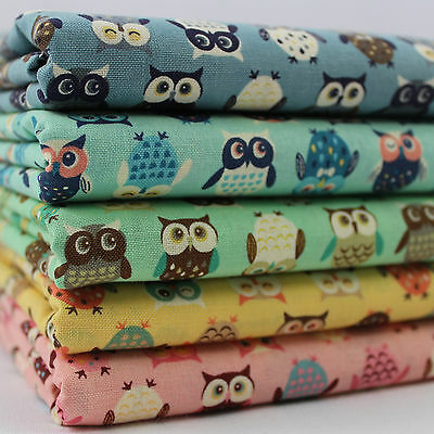 £5.25 • Buy CT Wise Owls 100% Cotton Japanese Fabric Birds