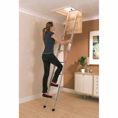 Youngman Spacemaker 2 Section Aluminium Sliding Loft Ladder 302340 New • 48.35£