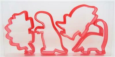 Dinosaur Cookie Cutters Set Of Four, Biscuit, Pastry, Fondant Cutters • 3.89£