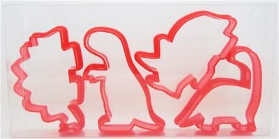 £3.89 • Buy Dinosaur Cookie Cutters Set Of Four, Biscuit, Pastry, Fondant Cutters
