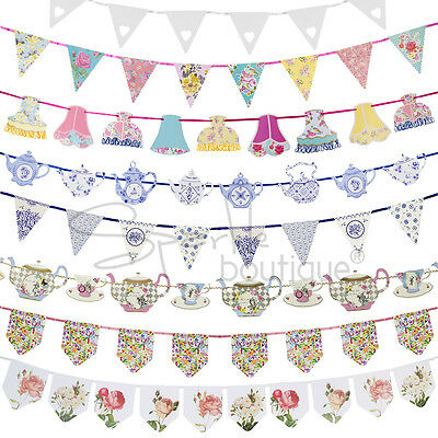 Luxury Bunting Banners - Garlands / Hanging Decorations - Tea Party / Wedding • 6.99£