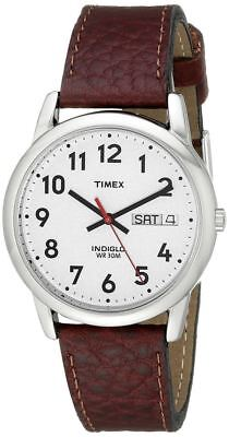 Timex Men's Easy Reader Brown Leather Watch - (Model No. T20041) • 43.15£