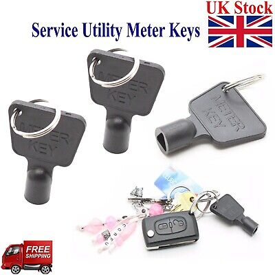 £1.99 • Buy Service Utility Meter Key Gas Electric Box Cupboard Cabinet Triangle Reading DIY