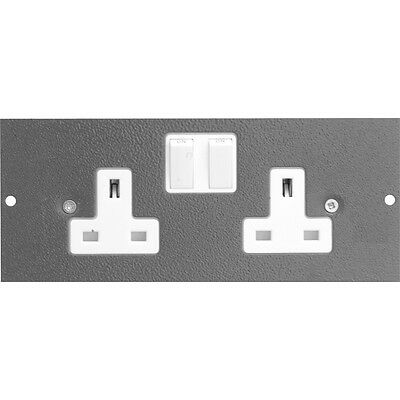 NEW 3 X Electrical Floor Box 3 Compartments Spare Socket Each FreePost.UK • 45.80£