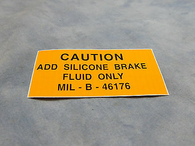 $10.76 • Buy M35a2 M809 M151 Silicone Brake Fluid Warning Decal M998 M35a3 7690-01-111-2265