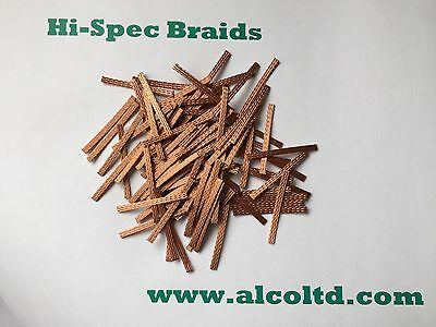 MICRO-SCALEXTRIC Car,Copper Braids/Brushes ( Pk Of 12 ) OFFER (BUY 2 GET 1 FREE) • 1.75£