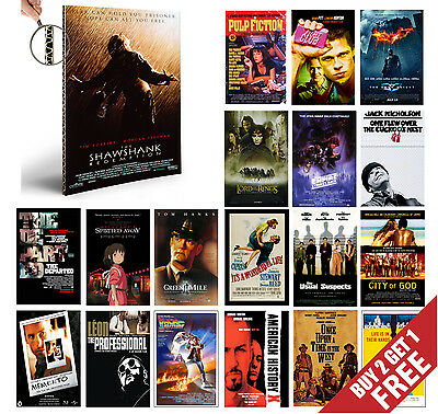 £3.99 • Buy IMDB TOP 1to50 MOVIE POSTERS A4 Film Wall Art Prints Valentines Day Home Decor