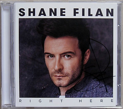 SHANE FILAN * RIGHT HERE * UK 10 TRK CD W/ SIGNED INSERT * BN&M! * WESTLIFE • 25£