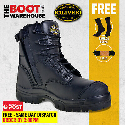 AU159.95 • Buy Oliver Work Boots, 45645Z, Zip, Lace-Up, Non-Metal, Composite Toe Cap Safety NEW