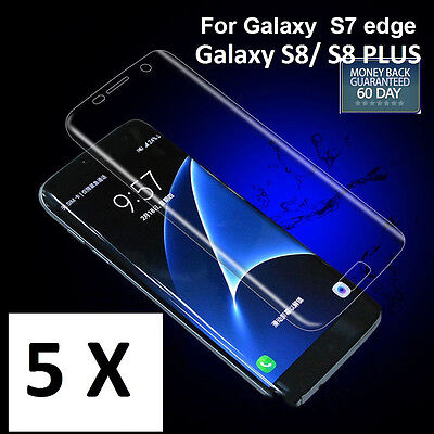 AU5.98 • Buy Galaxy S8 S7 / S7 Edge Full Coverage Curved Crystal Screen Protector For Samsung