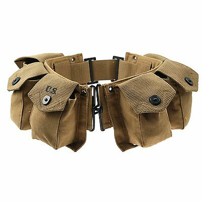 $32.23 • Buy Wwii 2 Us Army Infantry Usmc M1 Paratrooper Bar Equipment Ammo Combat Belt Pouch