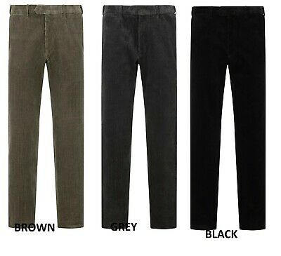 Ex M&S Mens Trousers Stretch Cotton Corduroy Cord Luxury Comfort Fit Waistband • 17.99£
