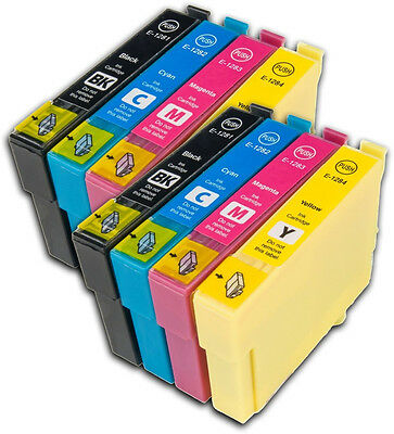 2 X T1285 Fox T1281-4 Ink Cartridge Set For Epson Stylus Office Printers Non OEM • 12.95£