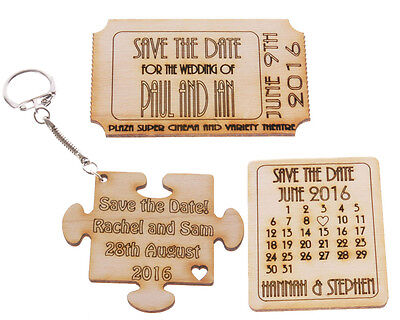 AU18 • Buy Save The Date Wedding Token / Fridge Magnet / Keyring - Pack Of 10