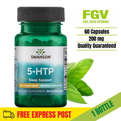 AU33.09 • Buy Swanson 5htp 200mg Max Strength 60 Veggie Capsules MOOD And SLEEP SUPPORT