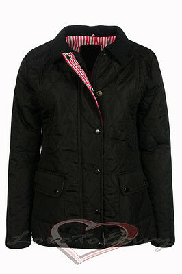 £17.99 • Buy Ladies New Quilted Padded Cross Stitch Warm Winter Jacket Coat Uk Sizes 8-14